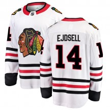 Victor Ejdsell Chicago Blackhawks Fanatics Branded Youth Breakaway Away Jersey - White
