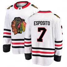 Phil Esposito Chicago Blackhawks Fanatics Branded Youth Breakaway Away Jersey - White