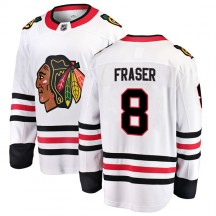 Curt Fraser Chicago Blackhawks Fanatics Branded Youth Breakaway Away Jersey - White