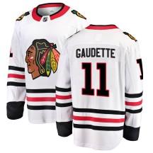 Adam Gaudette Chicago Blackhawks Fanatics Branded Youth Breakaway Away Jersey - White