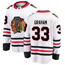Dirk Graham Chicago Blackhawks Fanatics Branded Youth Breakaway Away Jersey - White