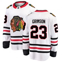 Stu Grimson Chicago Blackhawks Fanatics Branded Youth Breakaway Away Jersey - White