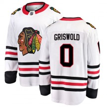 Clark Griswold Chicago Blackhawks Fanatics Branded Youth Breakaway Away Jersey - White
