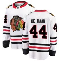 Calvin de Haan Chicago Blackhawks Fanatics Branded Youth Breakaway Away Jersey - White