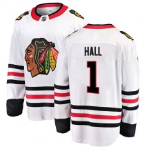 Glenn Hall Chicago Blackhawks Fanatics Branded Youth Breakaway Away Jersey - White