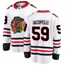 Matt Iacopelli Chicago Blackhawks Fanatics Branded Youth Breakaway Away Jersey - White