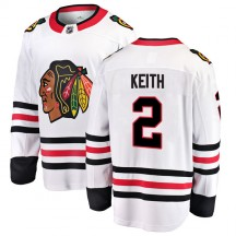 Duncan Keith Chicago Blackhawks Fanatics Branded Youth Breakaway Away Jersey - White