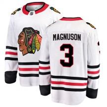 Keith Magnuson Chicago Blackhawks Fanatics Branded Youth Breakaway Away Jersey - White