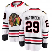 Andreas Martinsen Chicago Blackhawks Fanatics Branded Youth Breakaway Away Jersey - White