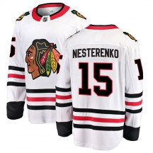 Eric Nesterenko Chicago Blackhawks Fanatics Branded Youth Breakaway Away Jersey - White