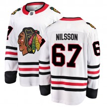 Jacob Nilsson Chicago Blackhawks Fanatics Branded Youth Breakaway Away Jersey - White