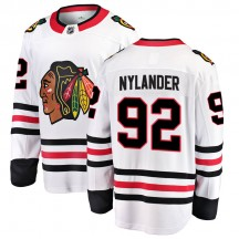 Alexander Nylander Chicago Blackhawks Fanatics Branded Youth Breakaway Away Jersey - White