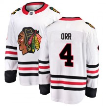 Bobby Orr Chicago Blackhawks Fanatics Branded Youth Breakaway Away Jersey - White