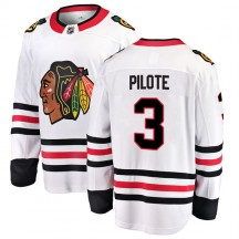 Pierre Pilote Chicago Blackhawks Fanatics Branded Youth Breakaway Away Jersey - White