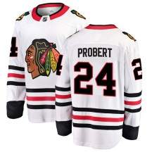 Bob Probert Chicago Blackhawks Fanatics Branded Youth Breakaway Away Jersey - White