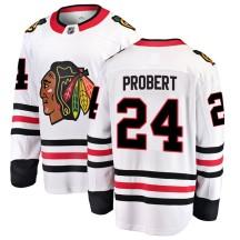 Bob Probert Chicago Blackhawks Fanatics Branded Youth Breakaway Away Jersey - White