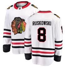 Terry Ruskowski Chicago Blackhawks Fanatics Branded Youth Breakaway Away Jersey - White