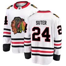 Pius Suter Chicago Blackhawks Fanatics Branded Youth Breakaway Away Jersey - White