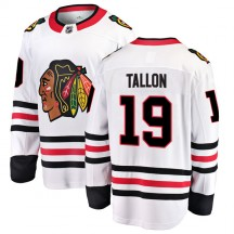 Dale Tallon Chicago Blackhawks Fanatics Branded Youth Breakaway Away Jersey - White