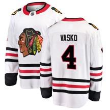 Elmer Vasko Chicago Blackhawks Fanatics Branded Youth Breakaway Away Jersey - White