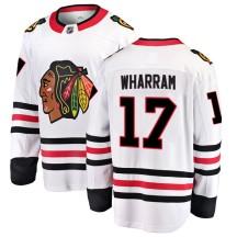 Kenny Wharram Chicago Blackhawks Fanatics Branded Youth Breakaway Away Jersey - White