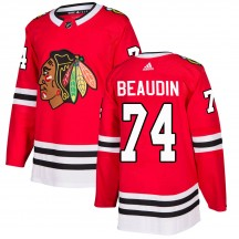 Nicolas Beaudin Chicago Blackhawks Adidas Youth Authentic ized Home Jersey - Red