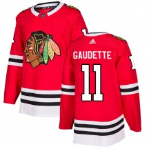 Adam Gaudette Chicago Blackhawks Adidas Youth Authentic Home Jersey - Red