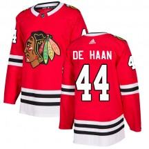 Calvin de Haan Chicago Blackhawks Adidas Youth Authentic Home Jersey - Red