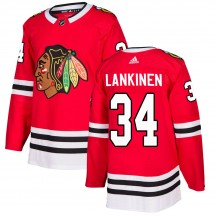 Kevin Lankinen Chicago Blackhawks Adidas Youth Authentic Home Jersey - Red