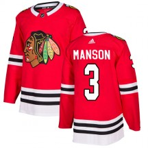 Dave Manson Chicago Blackhawks Adidas Youth Authentic Home Jersey - Red