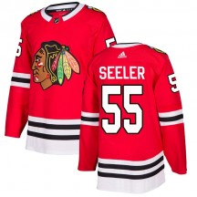 Nick Seeler Chicago Blackhawks Adidas Youth Authentic Home Jersey - Red