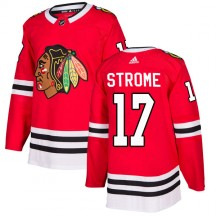 Dylan Strome Chicago Blackhawks Adidas Youth Authentic Home Jersey - Red