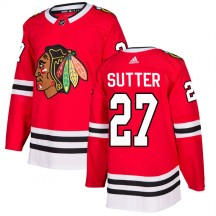 Darryl Sutter Chicago Blackhawks Adidas Youth Authentic Home Jersey - Red