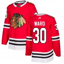 Cam Ward Chicago Blackhawks Adidas Youth Authentic Home Jersey - Red