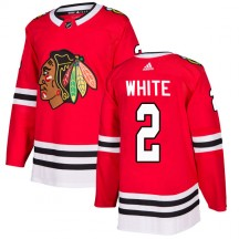 Bill White Chicago Blackhawks Adidas Youth Authentic Red Home Jersey - White