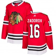 Nikita Zadorov Chicago Blackhawks Adidas Youth Authentic Home Jersey - Red