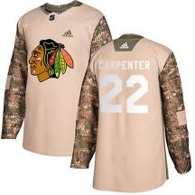 Ryan Carpenter Chicago Blackhawks Adidas Men's Authentic Veterans Day Practice Jersey - Camo