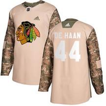 Calvin de Haan Chicago Blackhawks Adidas Men's Authentic Veterans Day Practice Jersey - Camo