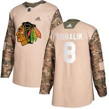 Dominik Kubalik Chicago Blackhawks Adidas Men's Authentic Veterans Day Practice Jersey - Camo