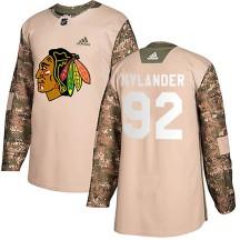 Alexander Nylander Chicago Blackhawks Adidas Men's Authentic Veterans Day Practice Jersey - Camo