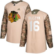 Ed Olczyk Chicago Blackhawks Adidas Men's Authentic Veterans Day Practice Jersey - Camo
