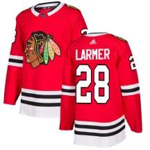 Steve Larmer Chicago Blackhawks Adidas Men's Authentic Jersey - Red