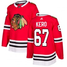 Tanner Kero Chicago Blackhawks Adidas Men's Authentic Jersey - Red