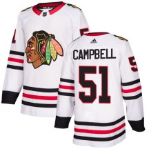 Brian Campbell Chicago Blackhawks Adidas Men's Authentic Jersey - White