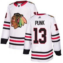 CM Punk Chicago Blackhawks Adidas Men's Authentic Jersey - White