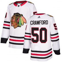 Corey Crawford Chicago Blackhawks Adidas Men's Authentic Jersey - White