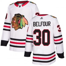 ED Belfour Chicago Blackhawks Adidas Men's Authentic Jersey - White