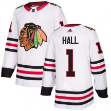 Glenn Hall Chicago Blackhawks Adidas Men's Authentic Jersey - White