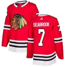 Brent Seabrook Chicago Blackhawks Adidas Youth Authentic Home Jersey - Red