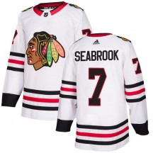 Brent Seabrook Chicago Blackhawks Adidas Youth Authentic Away Jersey - White